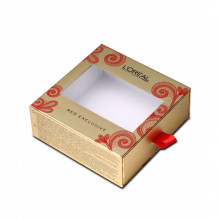 Sliding Drawer Eyelash Box Dengan Ribbon Handle