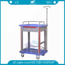 AG-LPT006B Krankenhaus ABS Material Klinik Krankenschwester Plüsch beweglichen verwendet Laborwagen