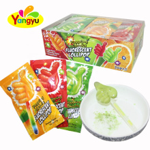 Glow Up Thumb Sweet Lollipop Mix With Magic Popping Candy