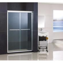 Puerta de ducha doble deslizante de aluminio Ha420