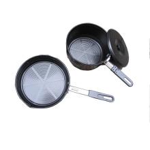Camping Non Stick Aluminum Pan Pot with Flexible Handle (CL2C-DP01-15)