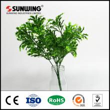 China Fabrik Großhandel billige grüne Kunstseide Pflanzen für hängende Wand