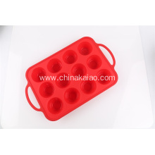 Silicone Baking tray 12 cavities with handle