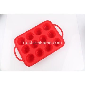 Silicone+Baking+tray+12+cavities+with+handle