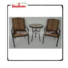 muebles de acero al aire libre del jardín del bistro del metal de la malla