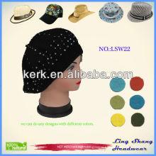 Custom made fashion flat brim plain Snapback Hat,lsw22