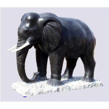 Artesanías de metal animal negro estatuas de elefante indio bronce