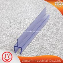 Tira de goma del PVC de la puerta tira impermeable de 180 grados