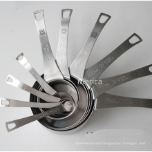 10 PCS Stainless Steel Measuring Spoon with Ring