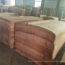 feuille de placage 4 * 7 PLB en bois naturel de face pour des feuilles de placage stratifiées de contreplaqué