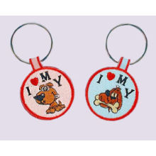 Embroidered Dog Key Chain, Luminous