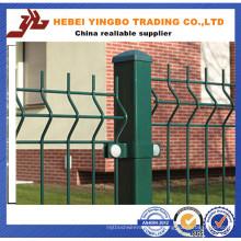 2015 venta caliente certificado PVC recubierto Curvy soldado de alambre de malla de alambre de cerca