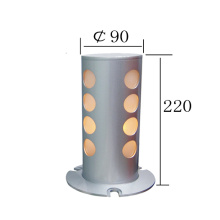 New Style Silver Aluminum Floor Stand Lamp (KM-F632)