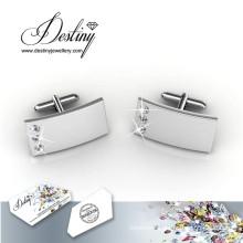 Destiny Jewellery Crystal From Swarovski Mr Matt 3 Cufflinks
