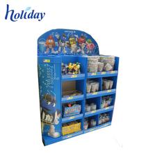 Estante de exhibición promocional de la cartulina del estante de exhibición de la plataforma de la cartulina de POP al por menor para el bebé juega