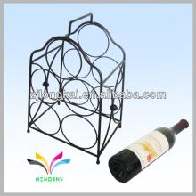 Smartable noir fabriqué en Chine comptoir en métal fil nouveauté porte-vin