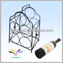 Smartable black made in china counter metal wire novelty wine rack