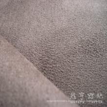 Urdimbre de poliéster 100% tela de gamuza con forro de punto