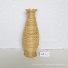 Vase à fleurs rond en rotin Natue