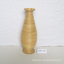 factory customized for Hanging Basket Round Natue Rattan Flower Vase export to Netherlands Factory