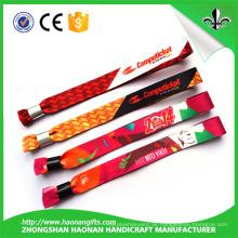 Einmalige Verwendung Schloss für gewebte benutzerdefinierte Stoff Armband