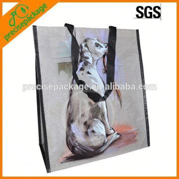 Bolsa não tecida laminada Eco-amigável com retrato do cão