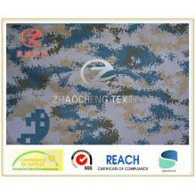 600d Poly Oxford Marine Camouflage Printing Fabric PVC Revêtu 330GSM pour Militaire et Utilisation du Sac (ZCBP003)