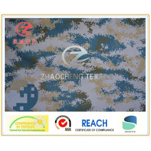 600d Poly Oxford Navy Camouflage Printing Fabric PVC Coated 330GSM for Military and Bag Use (ZCBP003)
