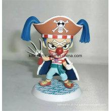 Brinquedo quente personalizado dos desenhos animados do Natal da venda ICTI da figura de ação plástica