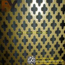 Hoja de metal perforada recubierta de PVC para la decoración