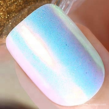 Nail Powder Mermaid Aurora Pigment Neon Iridescent Powder for Nail Art