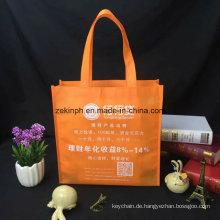 Bunte faltbare UmweltTaschen-Tasche mit entworfenem Drucklogo für Geschäfts-Geschenk