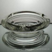 Cenicero de cristal al por mayor con el logotipo de impresión en la parte inferior
