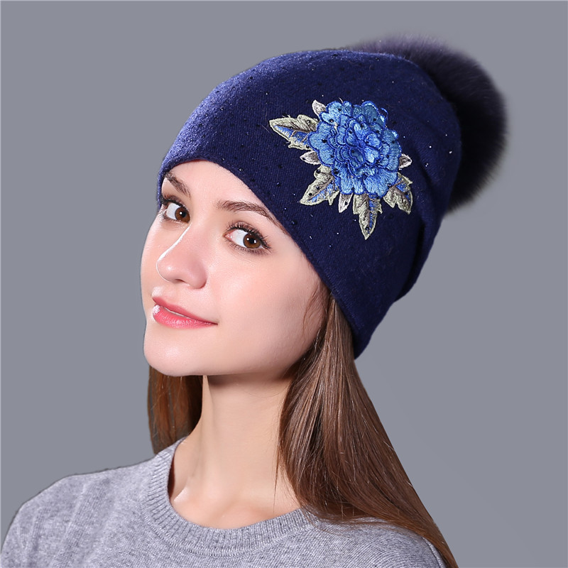 Fashion Embroidery Wool Hat