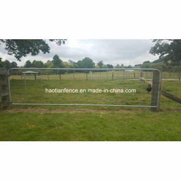 Puerta de granja de acero rural galvanizado de esgrima para ganado