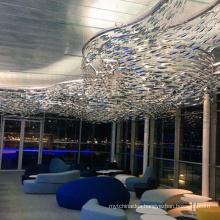 Hot Creative Project Restaurant Fish Shape Modern Chandelier