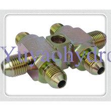 Raccords hydrauliques spéciaux avec adaptateur de raccordement de tube SAE J514 Flare