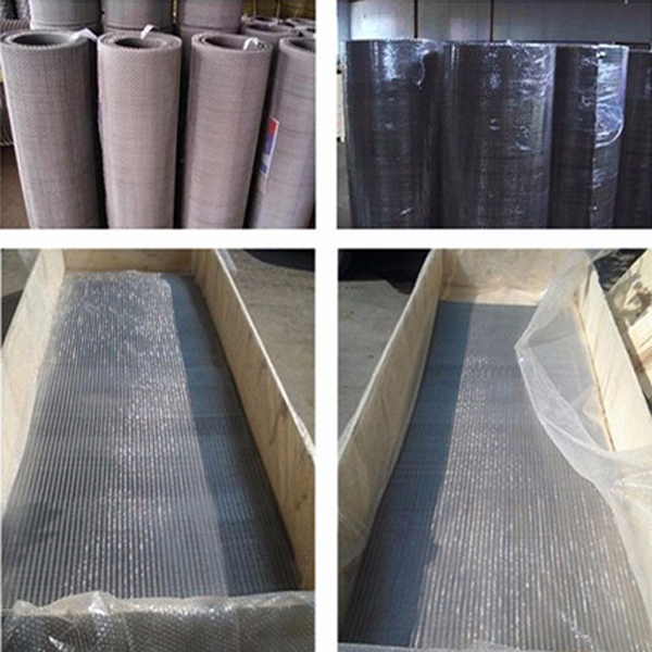 stainless iron plain crimped mesh