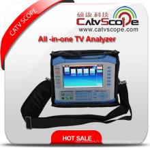 Analyseur de télévision tout-en-un S7000 adapté à l'analyse analogique, DVB-S / S2 / T / T2 / C et Ts