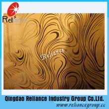 4mm/5mm/6mm Silver /Golden Decorative Glass / Restrunt Decoration Glass/ Acid Etched Decorative Glass