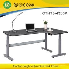 3-Bein-elektrisches justierbares Sitzen und stehen oben Schreibtisch mit hoher Qualität