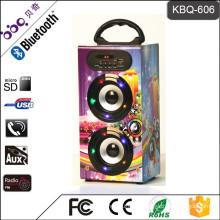 BBQ KBQ-606 10W 1200mAh Wooden Portable Bluetooth Speaker 2018