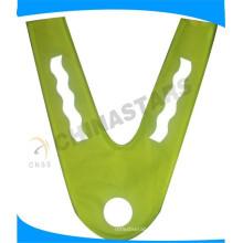 Chaleco de la seguridad de la visibilidad de los niños del logotipo de la transferencia del calor de V