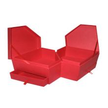 Caja de regalo de embalaje de cartón de papel personalizado de MDF