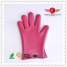 Dotted Silicone BBQ Cooking Gloves