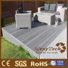 Piso para terraza al aire libre WPC anti-UV y resistente al agua