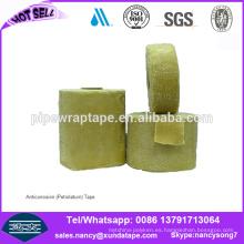 cinta de envoltura de tubo de Petrolatum de protección contra la corrosión de denso similar