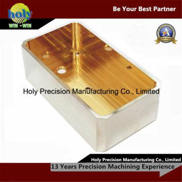 Корпус из латуни CNC Филируя подвергая механической обработке с покрытием никель