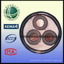 (TISENSE-YJV) STA Blindado XLPE aislamiento Cable de alimentación de alto voltaje