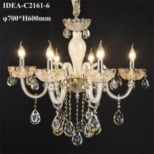 modern glass chandelier candle pendant lights